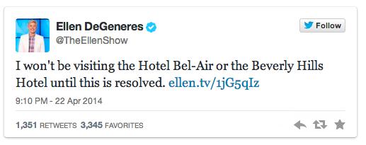 Boycott Beverly Hills Hotel